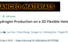 """李玉良院士团队Advanced Materials:三维柔性""""石墨炔/二硫化钼""""新型异质结高效催化剂"""
