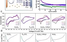 中南大学Nano Energy:具有稳定结构和快速离子扩散通道的钒酸钾作为可充电水系锌离子电池的正极