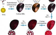北京科技大学AFM:用于高性能碱离子电池的N掺杂的C涂层介孔α-Fe2O3空心碗