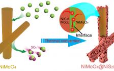 吉大韩炜教授课题组与美国德雷塞尔大学李腊博士JMCA:原位硫化法制备核壳结构NiMoO4@NiS2/MoS2纳米线用于超级电容器