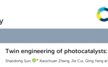 """【投稿】西安理工大学Catalysis Science & Technology综述:""""光催化剂孪晶工程"""""""