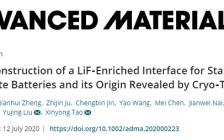 跟着顶刊学测试|浙工大陶新永教授AM: 冷冻电镜揭示了稳定的全固态电池中的富LiF界面的原位构建及其来源