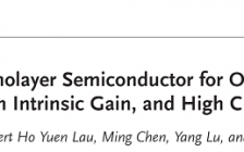 香港大学Advanced Materials:利用有机半导体单分子层单晶实现超低接触电阻