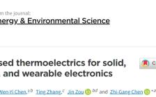 南昆士兰大学陈志刚教授课题组Energy& Environmental Science:纤维基热电材料与器件研究进展
