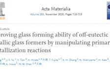 东南大学重磅Acta Materilia:添加少量N和Si,大幅度提高非共晶金属非晶的成型能力